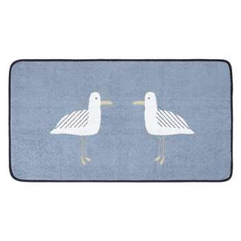 John Lewis Cheeky Gull Bath Mat - Pacific 50 x 80cm