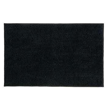 John Lewis Chenille Bobble Bath Mat - Black 50 x 80cm