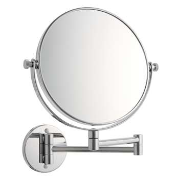 John Lewis Chrome Extending Magnifying Mirror (Diameter 20.5cm)