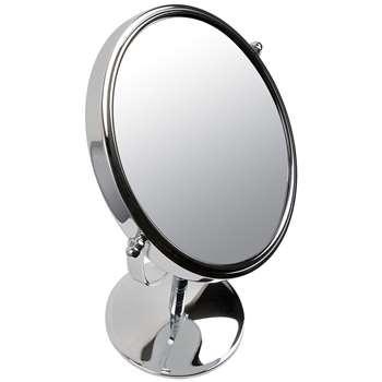 John Lewis Chrome Stand 7 x Magnifying Mirror (32 x 19cm)