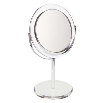 John Lewis Clear Round Acrylic 3 x Magnifying Mirror (29 x 17.6cm)