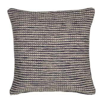 John Lewis Coastal Stripe Floor Cushion, Blue (75 x 75cm)