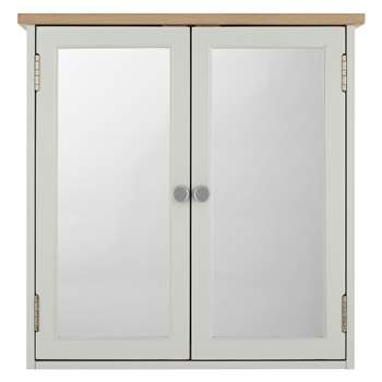 Croft Collection Blakeney Double Mirrored Bathroom Cabinet - Light Silver 63 x 65cm