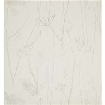 Croft Collection Grasses Wallpaper, French Grey