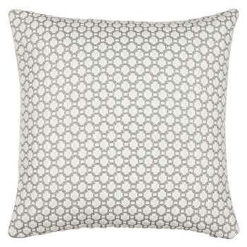 Croft Collection Weave Cushion, Blue Grey (50 x 50cm)