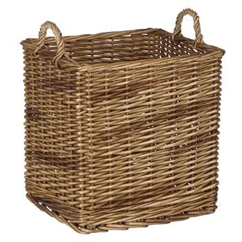 Croft Collection Wicker Log Basket (46 x 40cm)