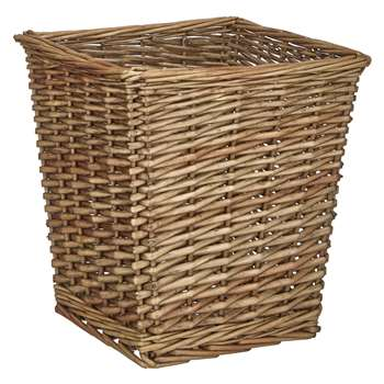 Croft Collection Willow Waste Paper Bin (29 x 27cm)