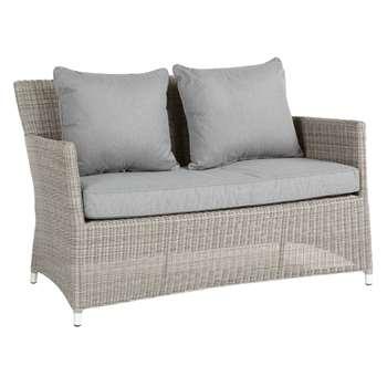 John Lewis Dante 2 Seater Outdoor Sofa, Grey (80 x 129cm)