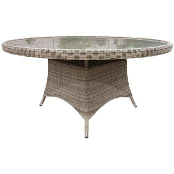 bb56d555c62 John Lewis Dante 6 Seater Outdoor Dining Table - Natural (75 x 150cm)