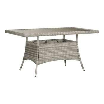 John Lewis Dante 6 Seater Rectangular Outdoor Dining Table, Grey (75 x 150cm)
