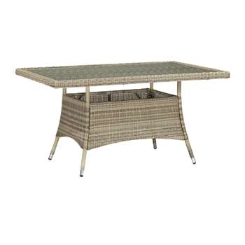 John Lewis Dante 6 Seater Rectangular Outdoor Dining Table, Natural (75 x 150cm)