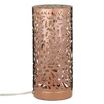 John Lewis Destiny Touch Lamp, Copper (26.5 x 12cm)