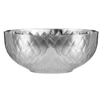 John Lewis Diamond Hammered Stainless Steel Bowl, Silver (9 x 20cm)