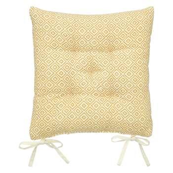 John Lewis Diamond Seat Pad, Saffron (40 x 40cm)