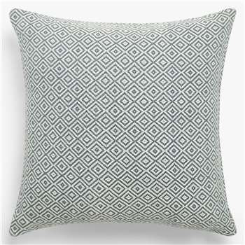 John Lewis & Partners Diamonds Cushion, Indian Blue (H45 x W45cm)