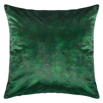 John Lewis & Partners Italian Velvet Square Cushion, Emerald (H50 x W50cm)