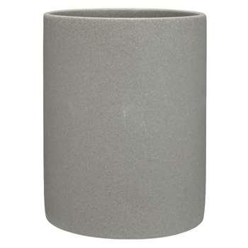 John Lewis Dune Bathroom Bin, Grey (24 x 20cm)