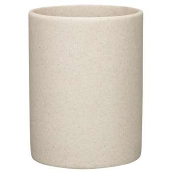 John Lewis Dune Bathroom Bin, Sandstone (24 x 20cm)