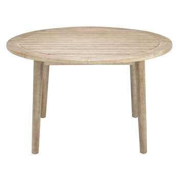 John Lewis Eden 4-Seater Outdoor Round Dining Table, FSC-Certified (Eucalyptus), Salima Wash (74 x 125cm)
