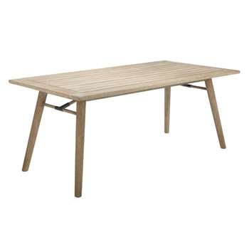 John Lewis Eden 6-Seater Outdoor Dining Table, FSC-Certified (Eucalyptus), Salima Wash (74 x 180cm)