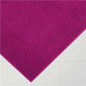 John Lewis Egyptian Cotton Bath Mat - Dark Cerise 50 x 80cm