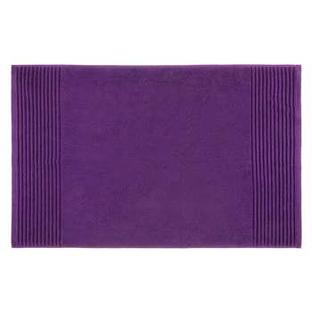 John Lewis Egyptian Cotton Bath Mat - Purple 50 x 80cm