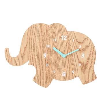John Lewis Elephant Clock, Natural (21.5 x 31.5cm)
