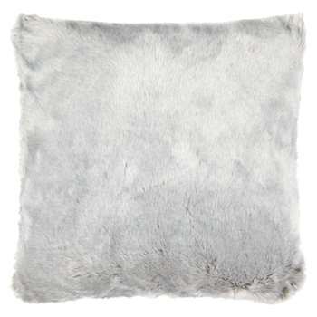 John Lewis Faux Fur Cushion, Light Grey (45 x 45cm)