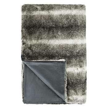 John Lewis Faux Fur Throw, Grey (200 x 150cm)