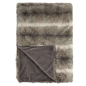 John Lewis Faux Fur Throw, Mocha (150 x 200cm)