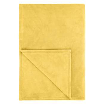John Lewis Fleece Throw, Citrine (150 x 200cm)