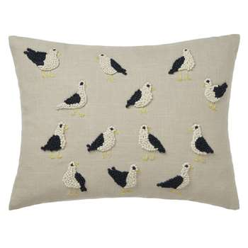 John Lewis French Knot Seagulls Cushion (30 x 40cm)