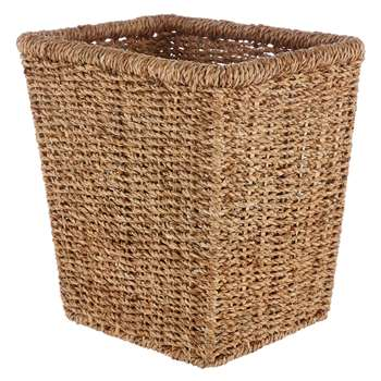 John Lewis Fusion Seagrass Wastepaper Bin (Height 28cm)