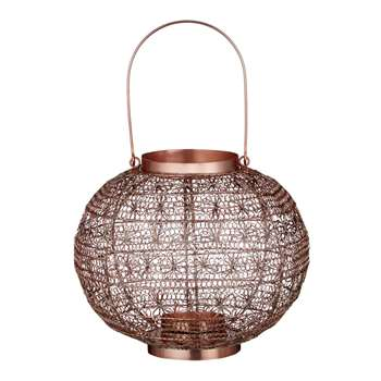 John Lewis Fusion Wire Large Candle Holder, Copper (25 x 30cm)