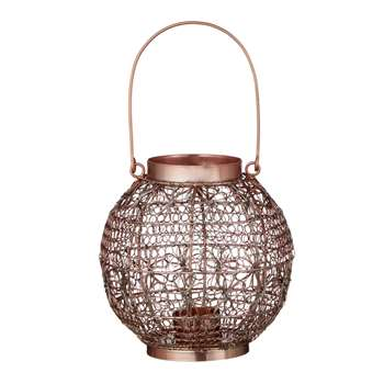 John Lewis Fusion Wire Small Candle Holder, Copper (17 x 17cm)