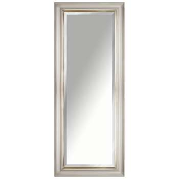 John Lewis Gold Line Bevelled Mirror, Gold/Taupe (H135 x W55 x D3.5cm)