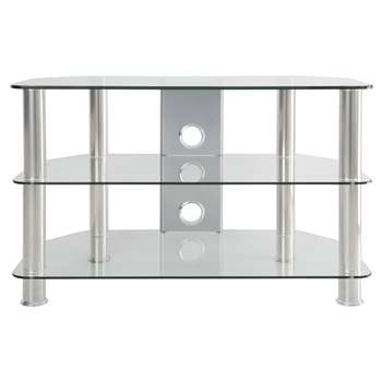 """John Lewis GP800 TV Stand for TVs up to 40"""" - Clear (50 x 80cm)"""