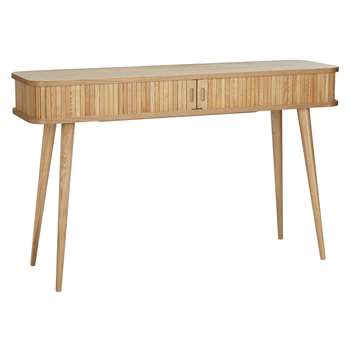 John Lewis & Partners Grayson Storage Console Table, Natural (H74 x W120 x D35cm)