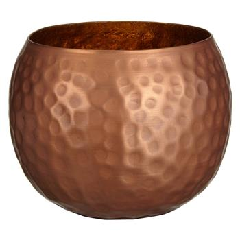 John Lewis Hammered Tealight Holder, Copper (7.7 x 10cm)