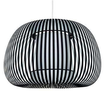 John Lewis & Partners Harmony Large Ribbon Ceiling Light, Black (H40 x W60 x D60cm)