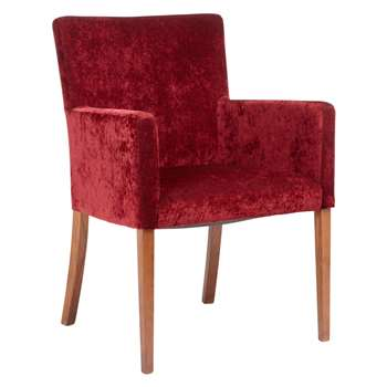John Lewis Helene Dining Chair, Red Berry (87 x 60cm)