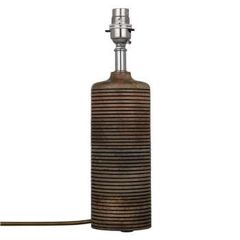 John Lewis Ira Wooden Column Lamp Base (30.5 x 8.5cm)