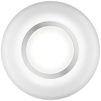 John Lewis Lambda Circle Surface/Recessed LED Light Kit, Pack of 2, White (Diameter 8cm)