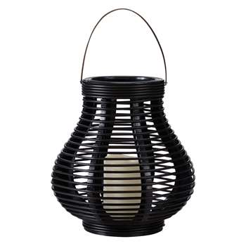 John Lewis & Partners Large LED Cabot Bell Outdoor Lantern, Brown (H33 x W33 x D33cm)