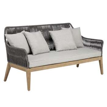 John Lewis Leia 3 Seater Sofa, FSC-Certified (Eucalyptus Grandis), Grey (86.5 x80cm)