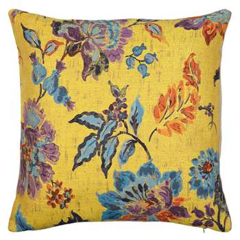 John Lewis Leona Floral Cushion, Yellow (50 x 50cm)