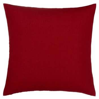 John Lewis Linen Cushion, Crimson