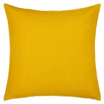 John Lewis Linen Cushion, Saffron
