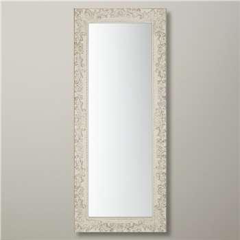 John Lewis Loire Mirror, Cream, H58cm x W138cm