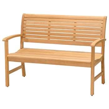 John Lewis Longstock 2-Seat Teak Bench 89 x 122cm